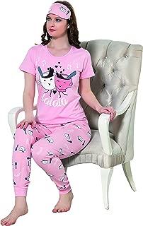 Boyraz Women's Top and Pants Pajama Set with Eye Mask