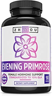 Evening Primrose Oil Capsules- Supports Hormone Balance for Women, PMS & Menopause Support, Cold Pressed & Hexane Free - 1400mg 10% Gla