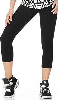 Babalu Fashion Women Solid Color Workout Capri Length Leggings Running Colombian
