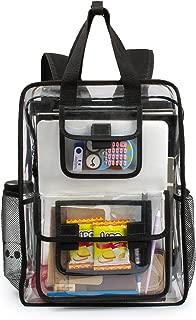 Estarer Clear Backpack Security Students Bag Transparent Bookbag Travel Beach Satchel Work Daypack