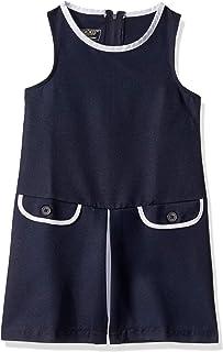 Cherokee School Uniforms girls Jumper Dress with Cute Contrast Details Dress