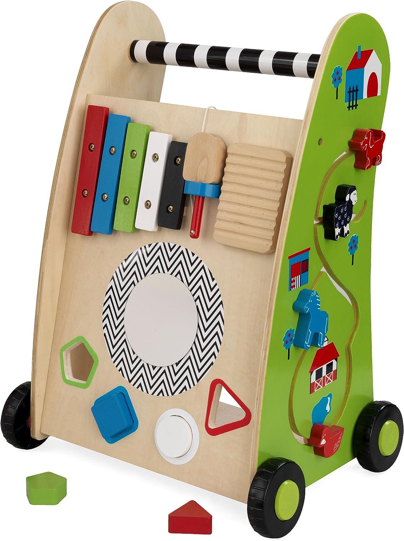 KidKraft Toddler Popular brand Push Along Play Cart Soldering for Colorful - Kids Toys