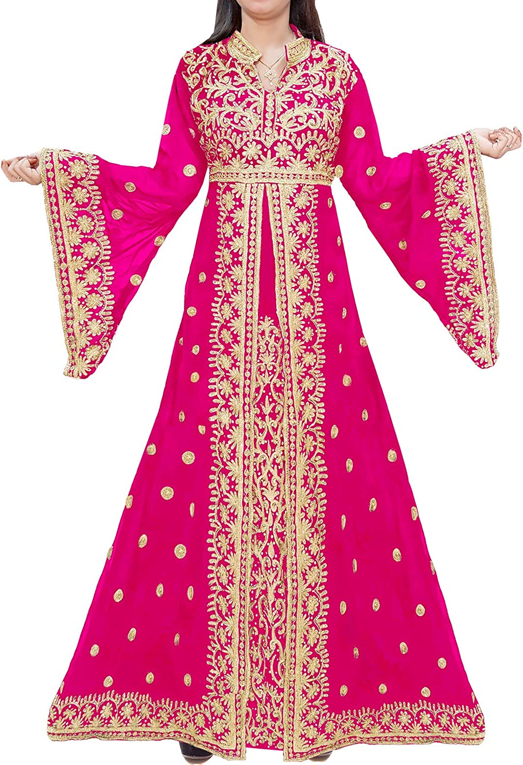 African Boutique Exclusive Muslim Abaya Jalabiya Embroidery Stone African Dress for Women Party Wear Kaftan Wedding Gown