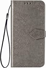FanTing Case for Samsung Galaxy M01 Core,Mobile Wallet Flip Cover with Mobile Phone Holder and Card Slot,Magnetic PU leather wallet case for Samsung Galaxy M01 Core-Gray
