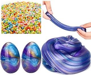 NIGHT-GRING Plyschlera, 2 delar färgglada lerdockor gör-det-själv slurry kit stressavlastande leksaker, 1 st färgglad bubb...