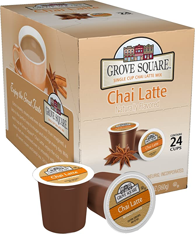 Grove Square Tea Chai Latte 24 Single Serve Cups