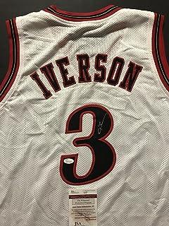 3e77288526d Autographed Signed Allen Iverson Philadelphia White Modern Basketball Jersey  JSA COA