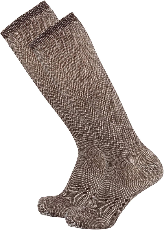 DG Hill Long Length 80% Merino Wool Socks for Men and Women, Wool Hiking Socks, Knee High Tall Boot Socks for Men and Women