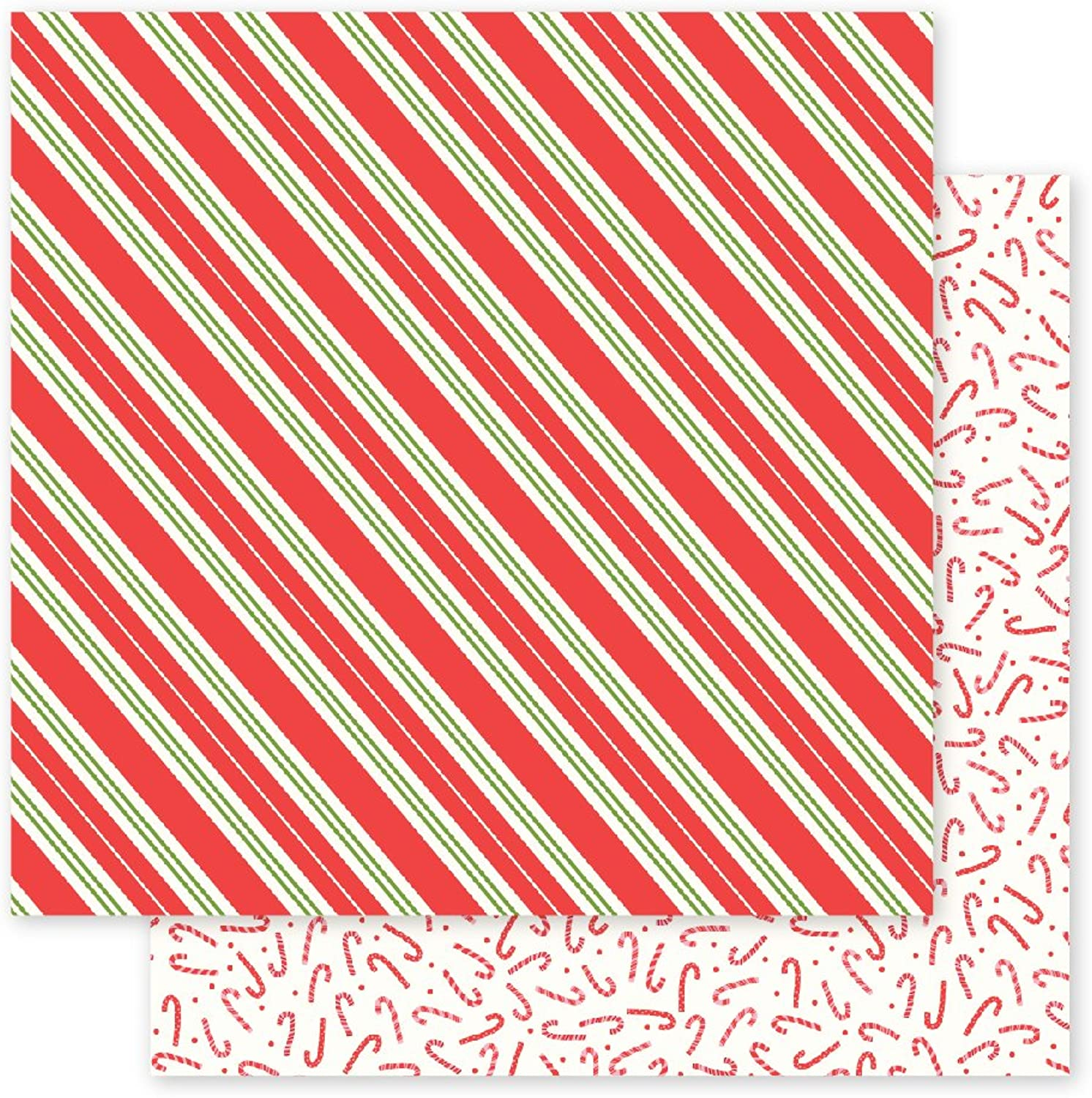 American Crafts 733164 Candy Stripes Pebbles Holly Jolly 25 Musterpapier Musterpapier Musterpapier Candy-Stripes 30 x 30 cm, 25 Stück B01LPIXSO0 | Exquisite (in) Verarbeitung
