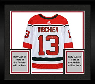 Framed Nico Hischier New Jersey Devils Autographed White Alternate Adidas Authentic Jersey - Fanatics Authentic Certified