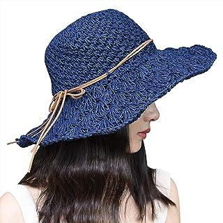 Xixihaha المرأة الشمس شاطئ قبعة للمرأة طوي مرنة الصيف سترو قبعة واسعة حافة واقية من الأشعة فوق البنفسجية قبعات الشمس للنساء