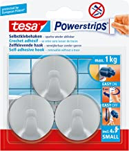 tesa Powerstrips Haken, Small - Haakjes met zelfklevende plakstrip - Handdoekhaak, ophanghaakje - Draagkracht plakhaak tot...