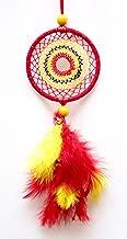 Daedal dream catchers - Car Decor Dream Catchers red and Yellow (Dimension 18cm L X 5.5cm W X 1cm D)