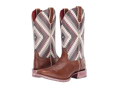 Ariat Circuit Savanna (Aged Amber/Purple Aztec) Cowboy Boots