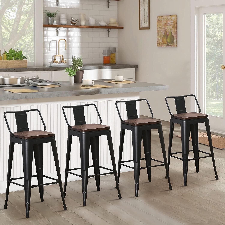 Amazon.com Andeworld Metal Bar Stools Set of 9 Kitchen Counter ...
