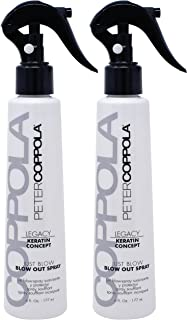 Peter Coppola Smoothing Blowout Spray - 6 oz (2 Pack)- Reduces Blow Dry Time, Heat Protectant Spray, Anti Frizz, Smoothes and Straightens all Hair Types. Conditions and Adds Shine