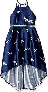 Girls' Big Sleeveless Party Dress with High-Low Hemline