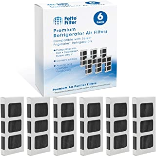 Fette Filter - Activated Carbon Refrigerator Air Filter Compatible with Paultra2 Ultra 2 Pure Air 2 Frigidaire and Electrolux Refrigerators Part #5303918847 (Pack of 6)