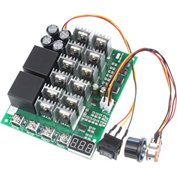 10V-55V 40A DC motor speed controller direction reversal switch with digital display