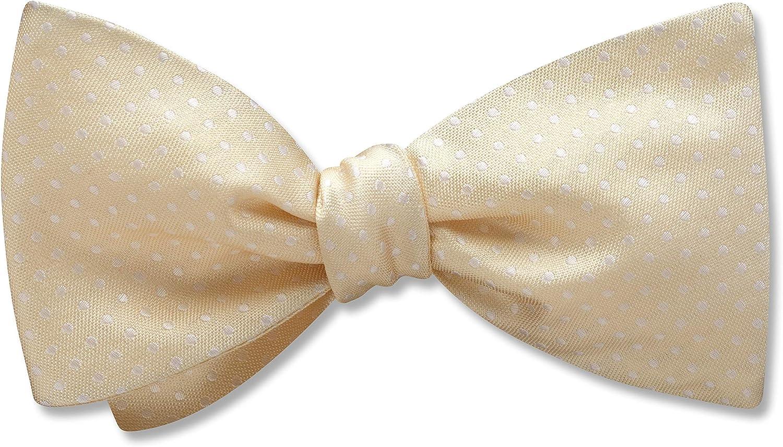 Oriel Ivory White Polka Dot, Men's Bow Tie, Handmade in the USA