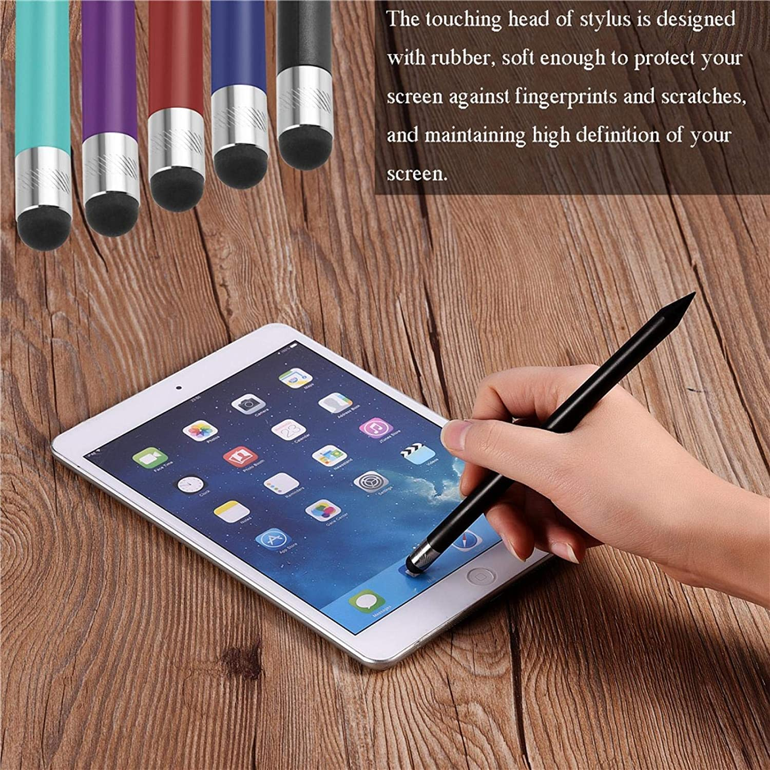 EBTOOLS Active Stylus Pen, Mini Portable High Sensitivity Replacement Capacitive Touch Screen Stylus, Used for Touch Screen Electronic Devices(Dark Blue)