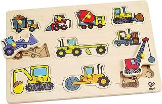 Hape Construction Site Kid's Wooden Toddler Peg Puzzle