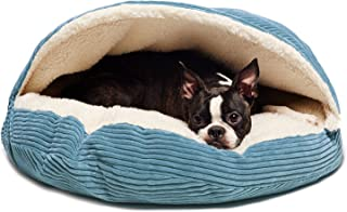 Precious Tails Cozy Corduroy Round Cave 25inch Dog Bed in Turquise