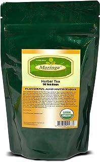 Moringa Tea 30 Tea Bags Herbal Tea Pure Raw USDA Organic by Moringa Long Island