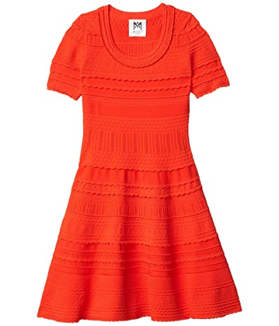 Milly Minis Textured Tech Dress (Big Kids) (Tomato) Girl