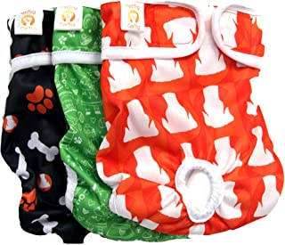 Dog Diapers Washable & Reusable by PETTING IS CARING - Female Dog Diapers Materials Durable Machine Washable Solution for ...