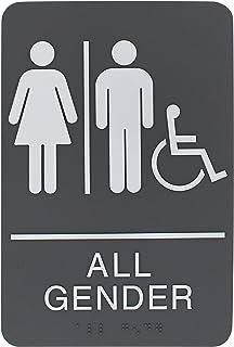 لافتة حمام تحمل عبارة «Headline Sign All Gender Restroom»