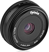 Opteka 28mm f/2.8 HD MC Manual Focus Prime Lens for Fuji X Mount APS-C Digital Cameras