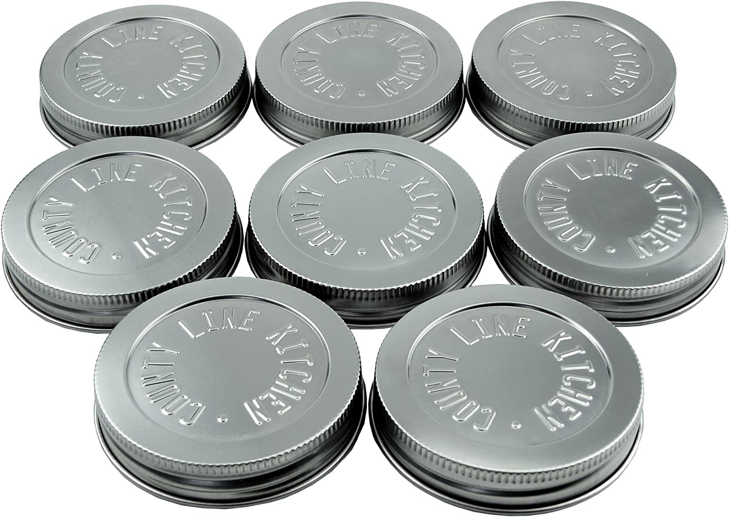 County Line Kitchen - Heavy Duty Steel Mason Lids Daily bargain sale Stainless Jar Max 50% OFF