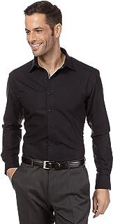 Vincenzo Boretti Camisa de Hombre, Corte Ajuste Recto (