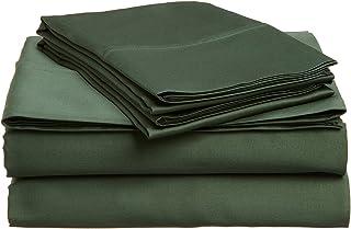 Lantrix 100% Soft Brushed Microfiber 3 PC. Solid Bed Sheet Set- Twin XL (Hunter)