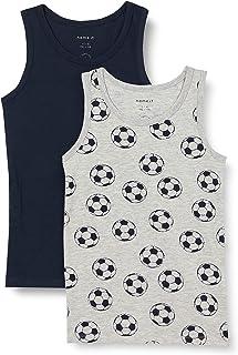 Name IT NOS NKMTANK Top 2P Grey Mel Football Noos-Balón de fútbol (2 Unidades), Color Gris (Pack de 2) para Niños