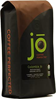 COLOMBIA JO: 12 oz, Organic Ground Colombian Coffee, Medium Roast, Fair Trade Certified,..