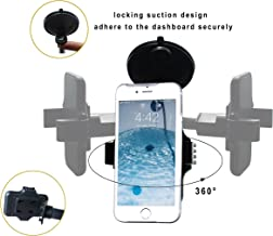 Cell Phone Holder for Car, Windshield Arm Car Mount with One Button Design and Anti-Skid Base for iPhone 8/7/7P/6s/6P/5S, Galaxy S5/S6/S7/S8, Google, LG, Huawei and More