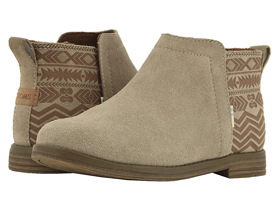 TOMS Kids Deia (Little Kid/Big Kid) (Desert Taupe Suede/Global Print) Girl