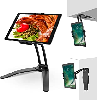Kitchen Stand for iPad, Stouch Kitchen Desktop Tablet Wall Mount iPad Holder for iPad Air/Mini, iPad 2nd-4th Generation, Kindle Fire, Other 7-10-Inch Screen Tablets Between 4.7-7.5 Inches Wide Black
