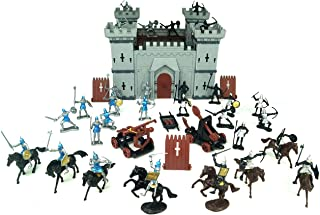 TYCBOY Colorful Character Modeling DIY Castle Building The Medieval Times Middle Ages Military Plastic Fort Model Kit Set ...