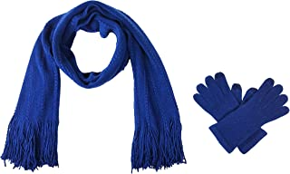 Bruceriver Women's Knit Scarf & Glove Set Touchscreen Function Cashmere Feel Cable Design