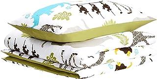 AmazonBasics - Funda nórdica para niños, microfibra, animales, 135 x 200 cm + 50 x 75 cm