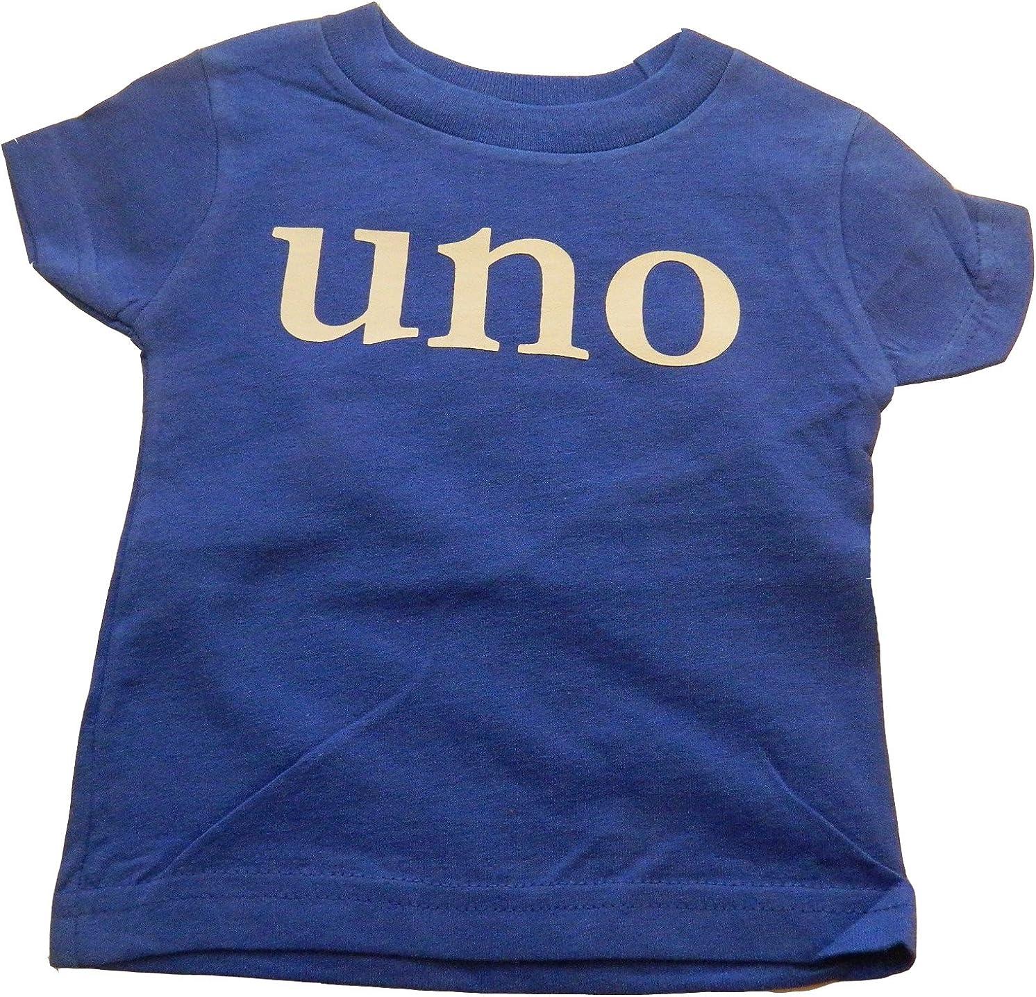 Custom Kingdom Boys' UNO First Birthday T-Shirt Blue