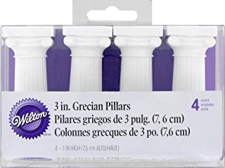 Wilton 303-3606 4-Pack Grecian Pillars for Cakes, 3-Inch