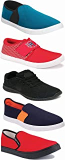 WORLD WEAR FOOTWEAR Sports Running Shoes/Casual/Sneakers/Loafers Shoes for Men Multicolor (Combo-(5)-1219-1221-1140-383-1012)