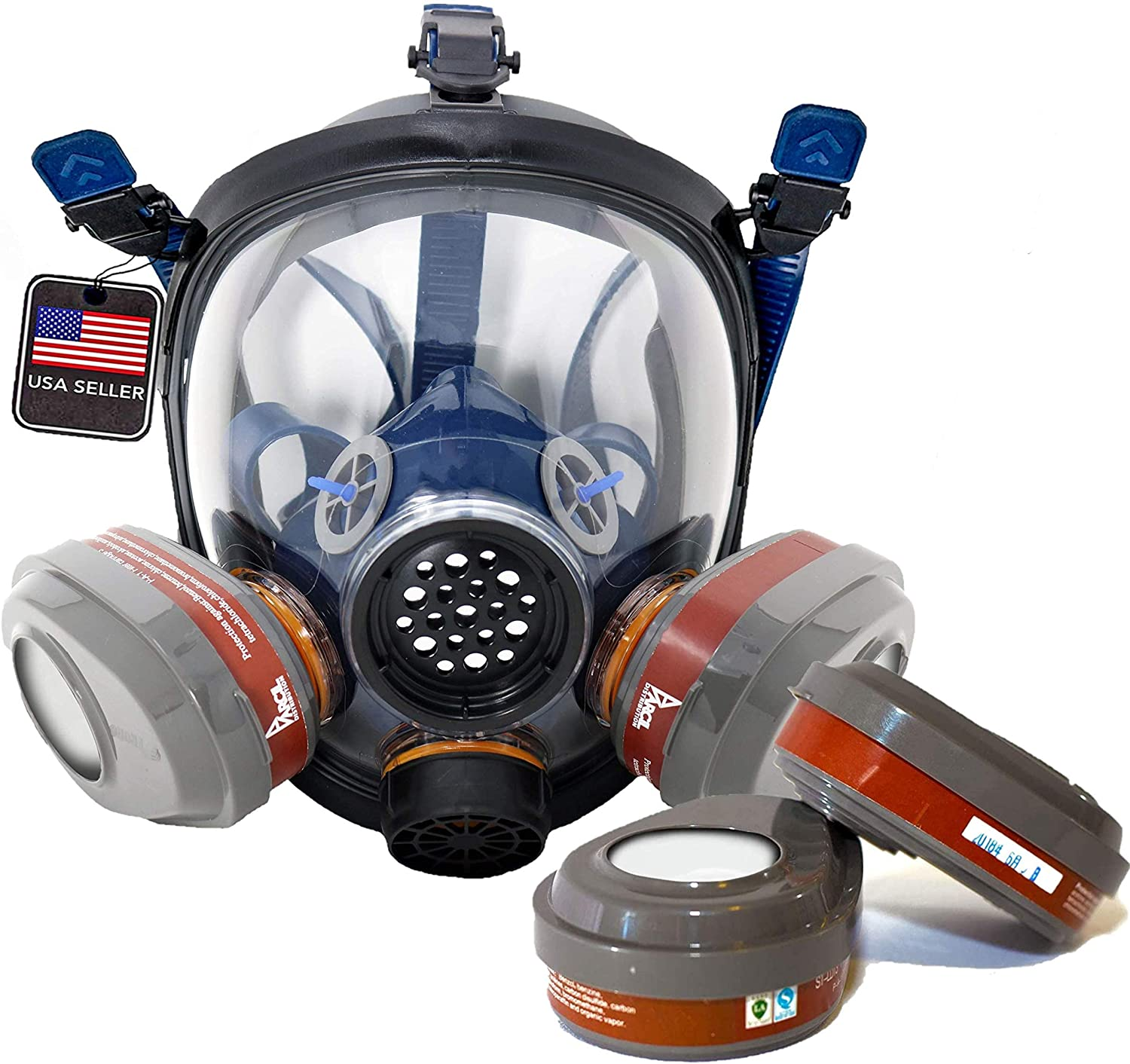 Charlotte Mall PT-101 Full Face OFFicial Organic Vapor Respirator Sets P- Mask with 2 of