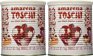 Toschi Amarena Black Cherries in Syrup (Pack of 2)