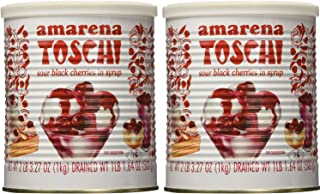 Toschi Amarena Black Cherries in Syrup 2 Pounds 3.27 Ounces (Pack of 2)