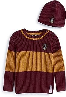 Harry Potter Hufflepuff Knitted Grey Jumper Mustard Sleeves Ladies Primark